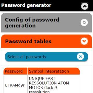 Screenshot of Password-generator app