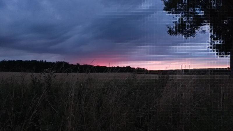 Image of a purple blue sky