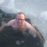 I am winter bathing in the frozen sea
