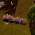 Flying on a log in Farming Simulator 2017